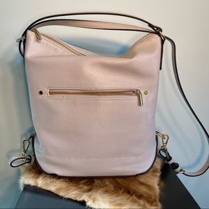 NWOT a new day pale blue vegan leather back pack